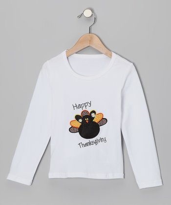 White Turkey Tee - Infant, Toddler & Girls