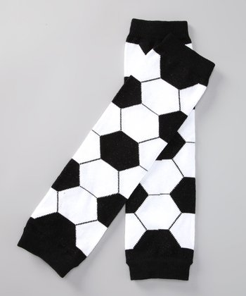Black & White Soccer Leg Warmers