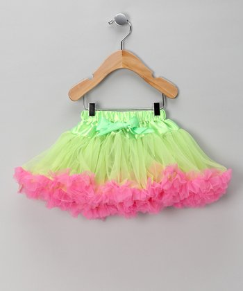 Lime & Hot Pink Pettiskirt - Infant, Toddler & Girls