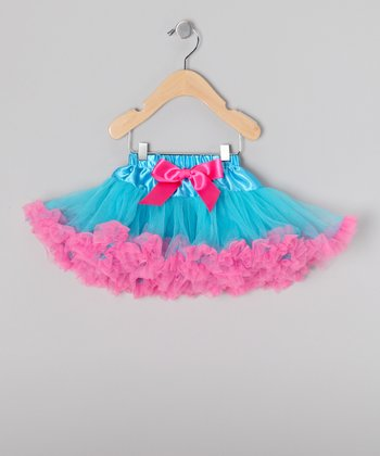Turquoise & Bubblegum Pettiskirt - Toddler & Girls
