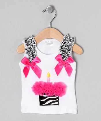 Zebra Cupcake Tank - Infant, Toddler & Girls