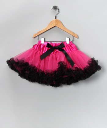 Hot Pink & Black Pettiskirt - Toddler & Girls