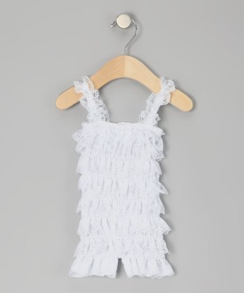 White Ruffle Romper - Infant & Toddler