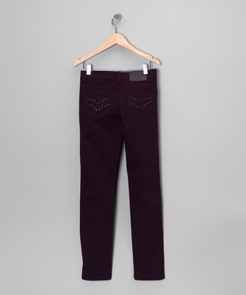Plum Skinny Jeans - Girls