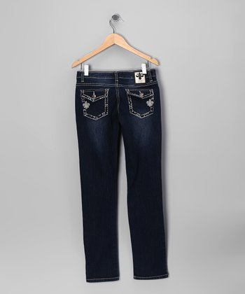 Rhinestone Outline Skinny Jeans - Toddler