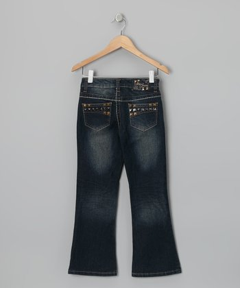 Denim Medium Wash Flare Jeans - Girls