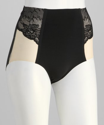 Black Ethereal Shaper Briefs - Women