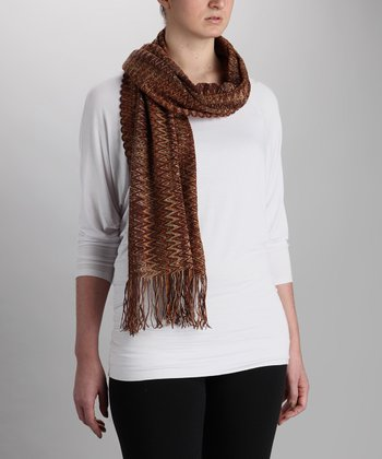 Orange & Gray Classic Zigzag Scarf