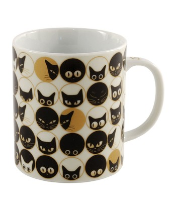 White 8-Oz. Cat Eye Mug
