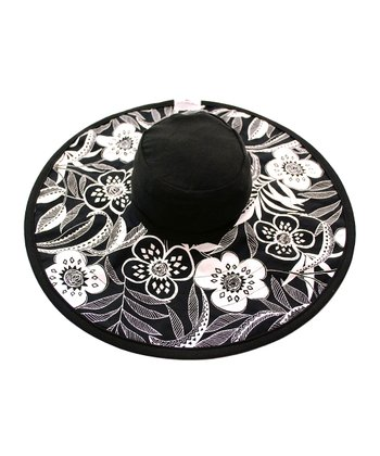 Black Elegance Couture Nursing Cover Sun Hat