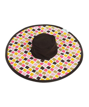 Brown Tropical Tiles Couture Nursing Cover Sun Hat
