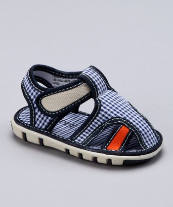 Navy & Orange Chime Closed-Toe Sandal