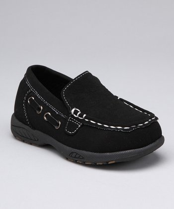 Black Derby Stitched Loafer - Boys