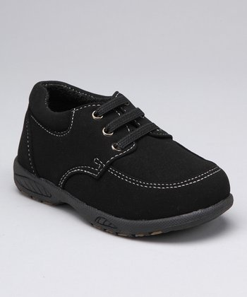 Black Derby Shoe - Boys