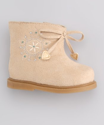 Tan Snowflake Furry Boot