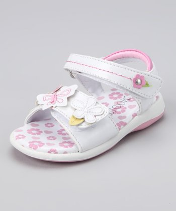 White Flower Jelly Sandal