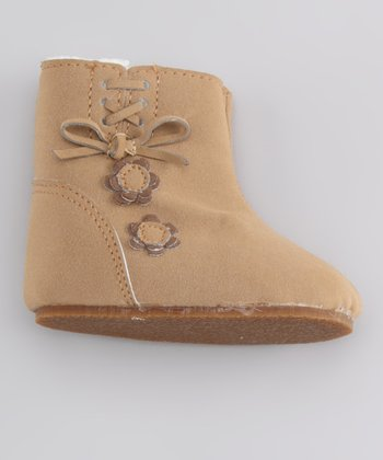 Tan Flower Potato Boot