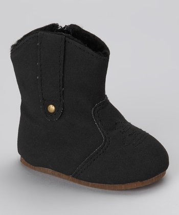Black Stitch Potato Boot