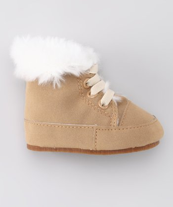 Tan Fuzz Laced Potato Boot