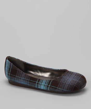 Blue Plaid Pure Flat -
