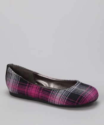 Pink Plaid Pure Flat