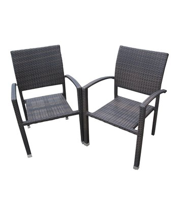 Dark Chocolate Bella Patio Chair - Set of Two