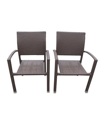 Milk Chocolate Bella Patio Chair - Set of Two