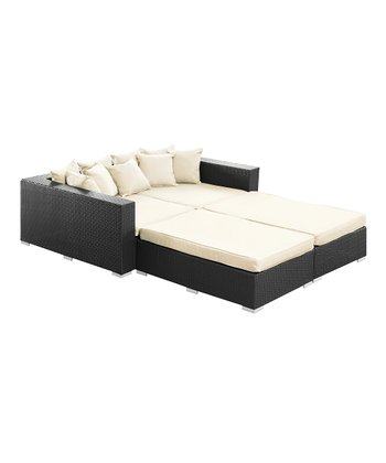 Espresso & White Palisades Four-Piece Daybed Set