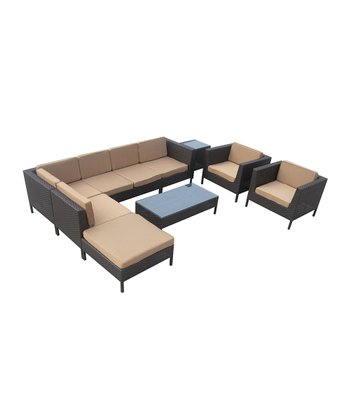 Espresso & Mocha La Jolla Nine-Piece Sectional Sofa Set