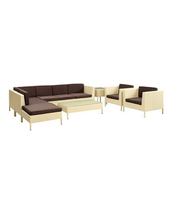 Tan & Brown La Jolla 10-Piece Sectional Sofa Set