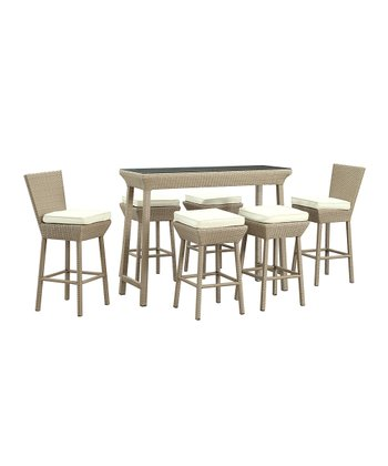 Oatmeal & White Napa Seven-Piece Pub Table Set