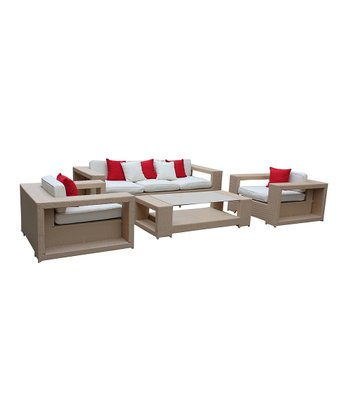 Tan & White Aspire 4-Piece Patio Set