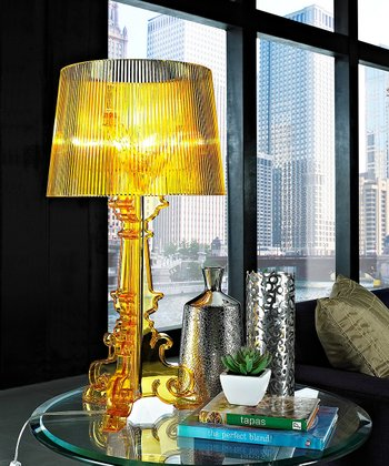 Yellow French Acrylic Table Lamp