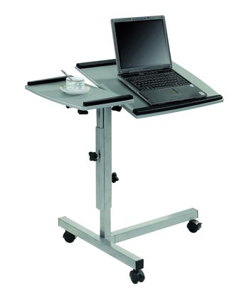 Gray & Black Mobile Laptop Computer Stand