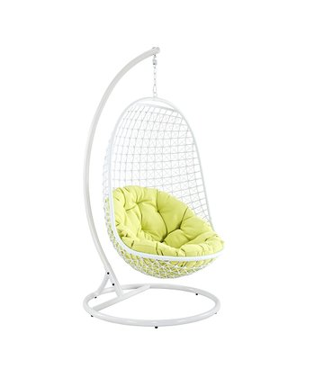 White & Green Encounter Swing Chair