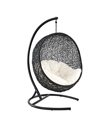 Espresso & White Encase Swing Chair