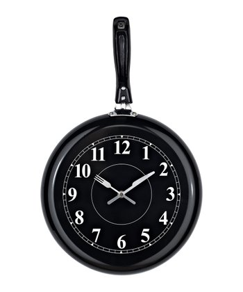 Black Pan Wall Clock