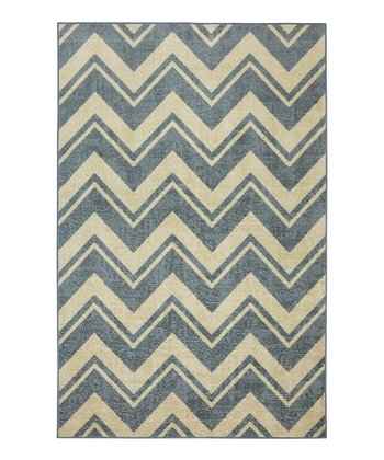 Mohawk Blue Chevron Accent Rug