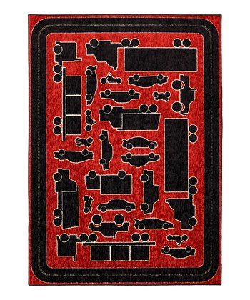 Red Fast Lane Rug