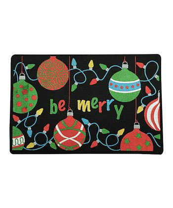 'Be Merry' Ornament Recycled Doormat