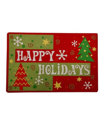 Retro Holiday Recycled Doormat