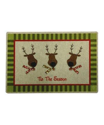 Reindeer Holiday Recycled Doormat
