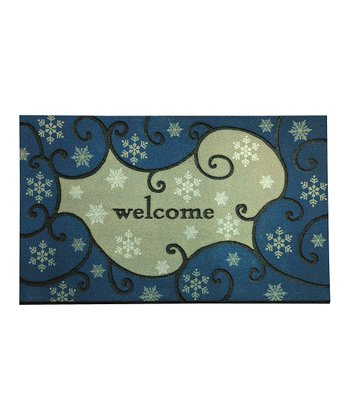 Frosty Snow Recycled Doormat