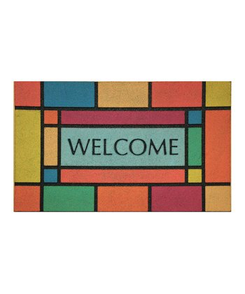 Rainbow Box 'Welcome' Doormat