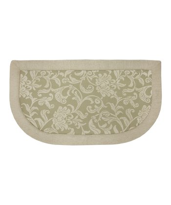 Tanbor Floral Scroll Memory Foam Kitchen Mat