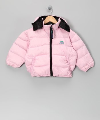 Pink Down Puffer Coat - Toddler & Girls