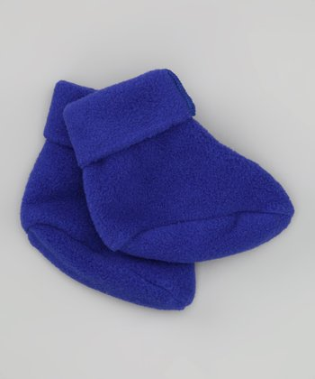 Cobalt Fleece Socks