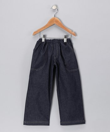 Dark Blue Straight-Leg Jeans - Toddler & Kids
