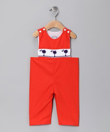 Orange Clemson Overalls - Infant & Boys