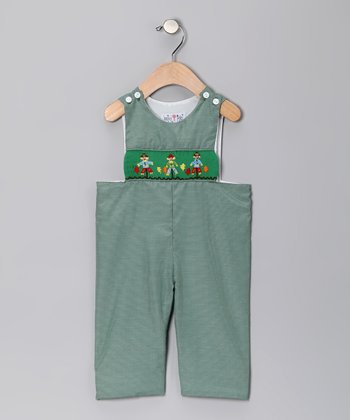 Dark Green Gingham Scarecrow John Johns - Boys